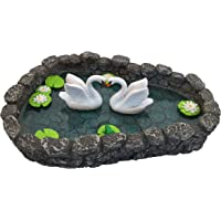 Swan Miniature Pond - Love is in The air! A Miniature Swan Lake for a Miniature Fairy Garden and Miniature Garden Accessories by GlitZGlam