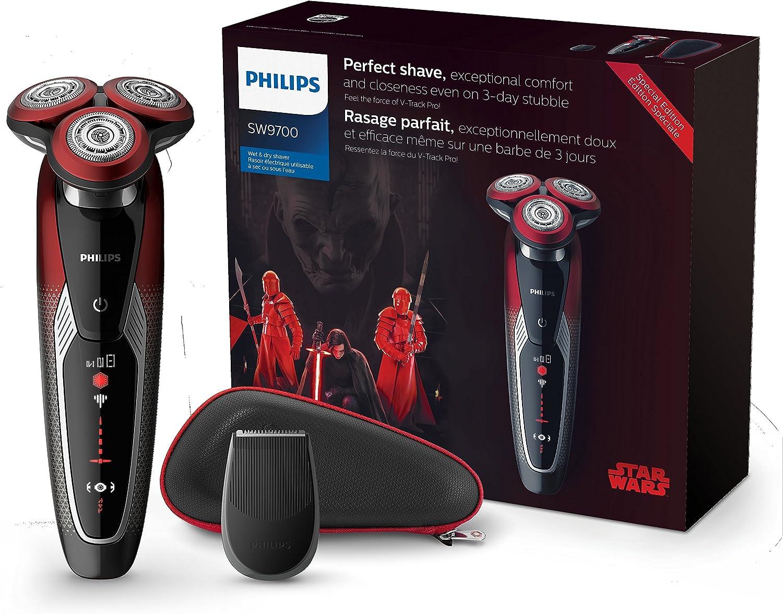 Philips - Afeitadora (Máquina de Afeitar de rotación, Negro, Rojo ...