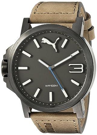 PUMA Men's PU103461017 Ultrasize 50 - Gun Brown Analog Display Japanese  Quartz Brown Watch 1cfbe244b8ec