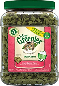 FELINE GREENIES Natural Dental Care Cat Treats 21 oz