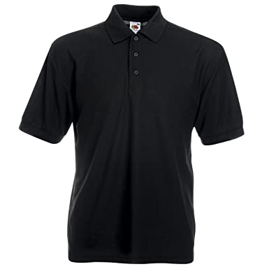 7f928dd7 Fruit of the Loom Men's 65/35 Pique Polo Regular Fit Short Sleeve ...