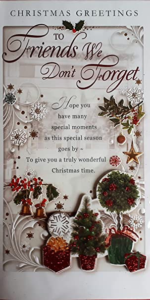 Weihnachten Grüße Bilder.Weihnachten Grüße An Freunde Wir Nicht Vergessen Weihnachten Karte