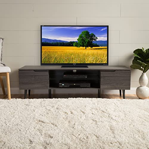 Christopher Knight Home Rowan Wood TV Stand, Grey Finished