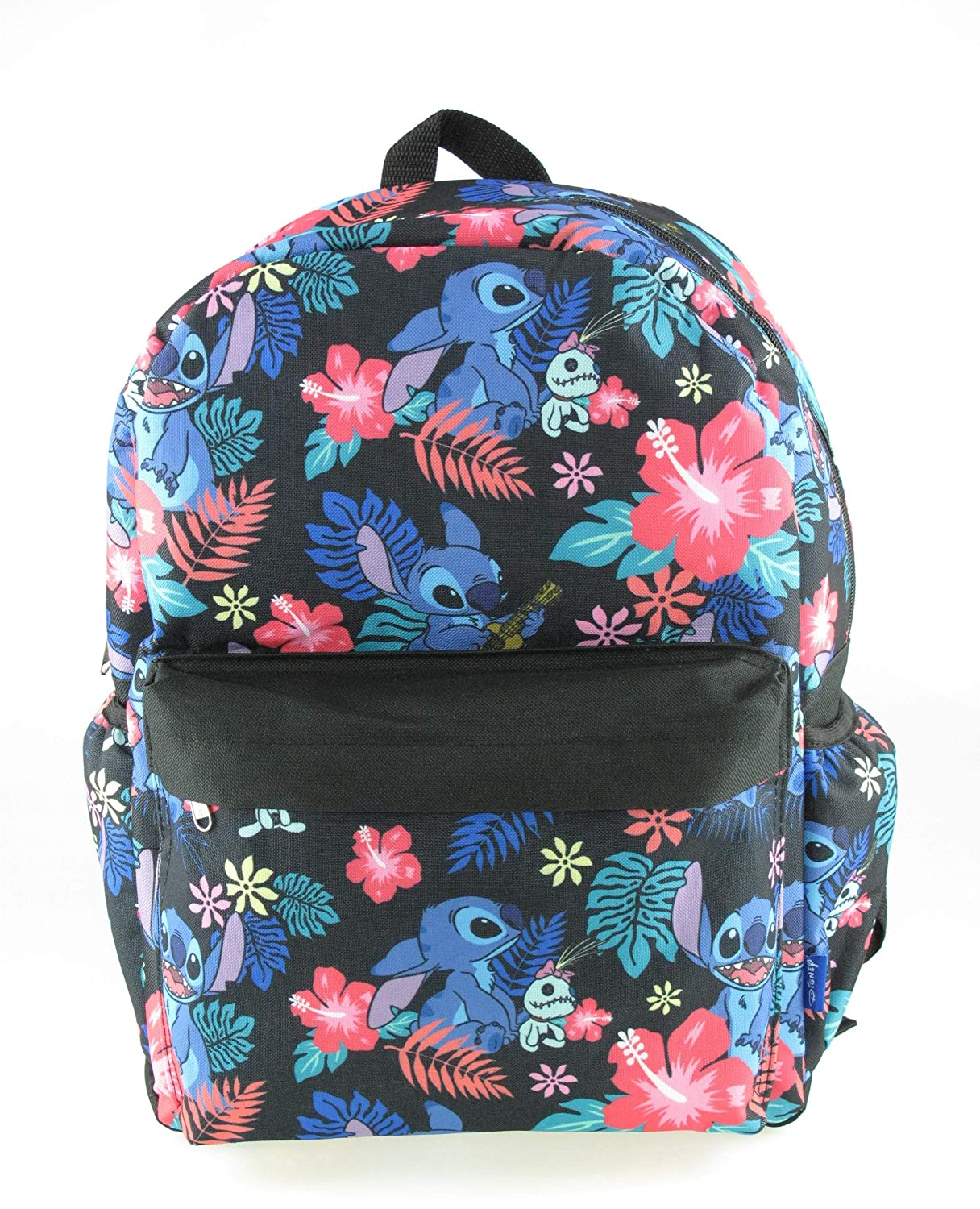 """NEW ARRIVE Disney Lilo and Stitch Allover Print 16/"""" Girls Large School Backpack"""
