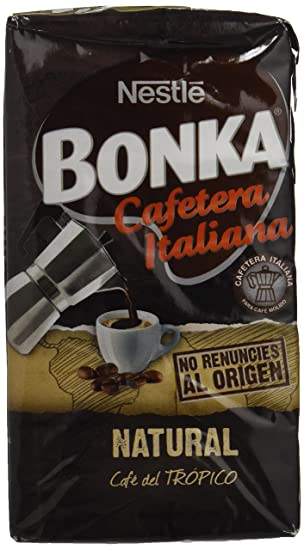Bonka - Cafetera Italiana - Café Tostado Molido - 250 g: Amazon.es ...