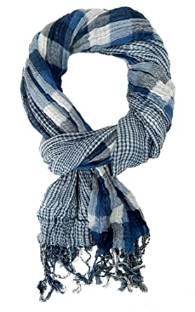 Ella Jonte FOULARD ÉCHARPE HOMME tendance by Casual-Style bleu blanc a  tourner 1 foulard 18d71db788d