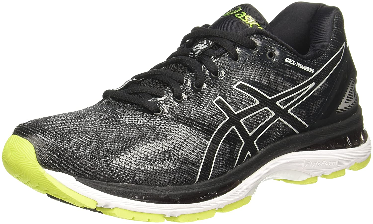 9b85388538cf ASICS Men s Gel-Nimbus 19 Black Glacier Grey Energy Green Running Shoes -  7.5 UK India (42 EU)(8.5 US)  Buy Online at Low Prices in India - Amazon.in