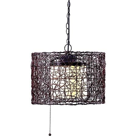 Kenroy Home 93393BRZ Tanglewood 1-Light Outdoor Pendant, Blackened Bronze Finish