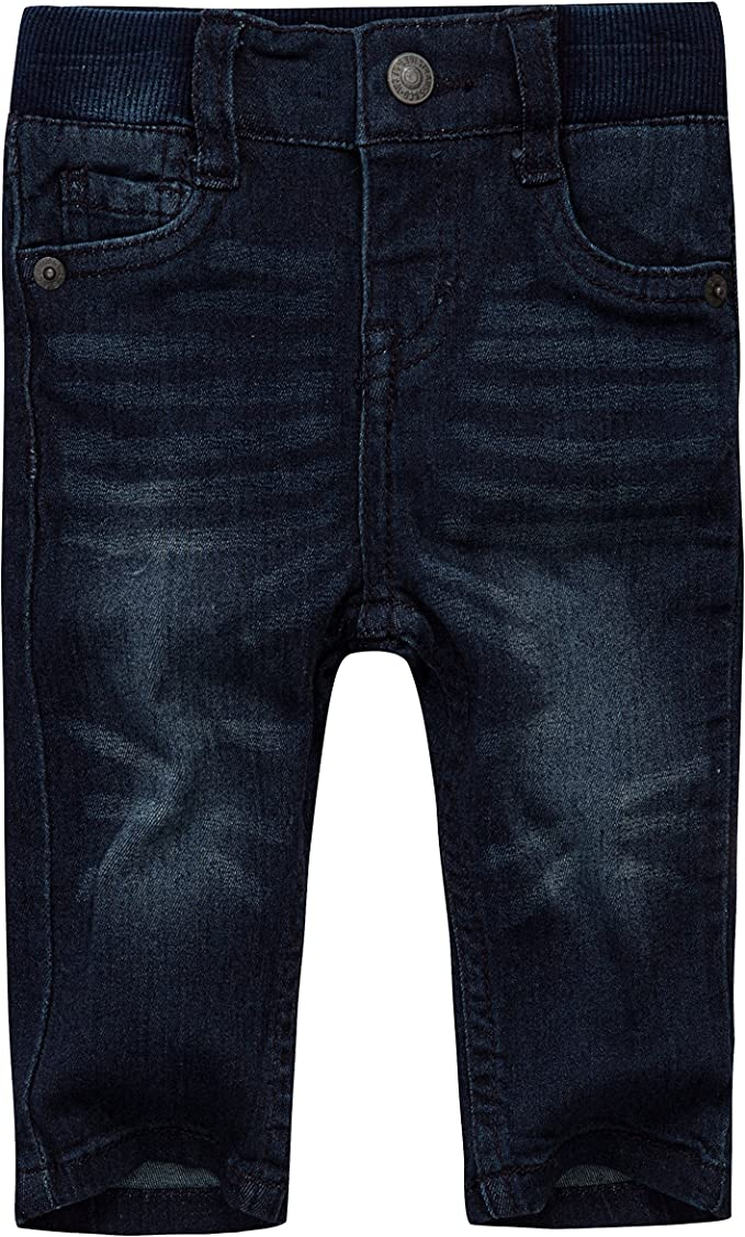 511 LEVI/'S BABY BOY TODDLER KNIT PULL-ON JEANS size 12 MONTHS DARK BLUE