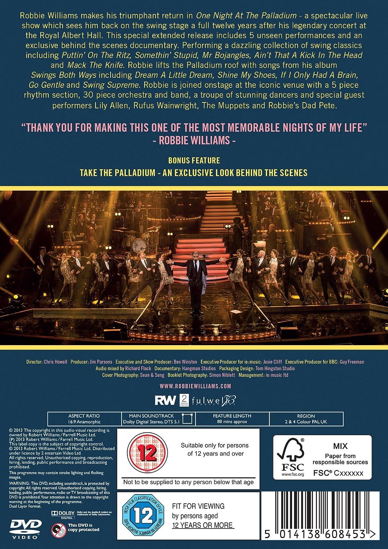 urheilukengät kuuma myynti Julkaisupäivä Robbie Williams - One Night at the Palladium [DVD]: Amazon ...