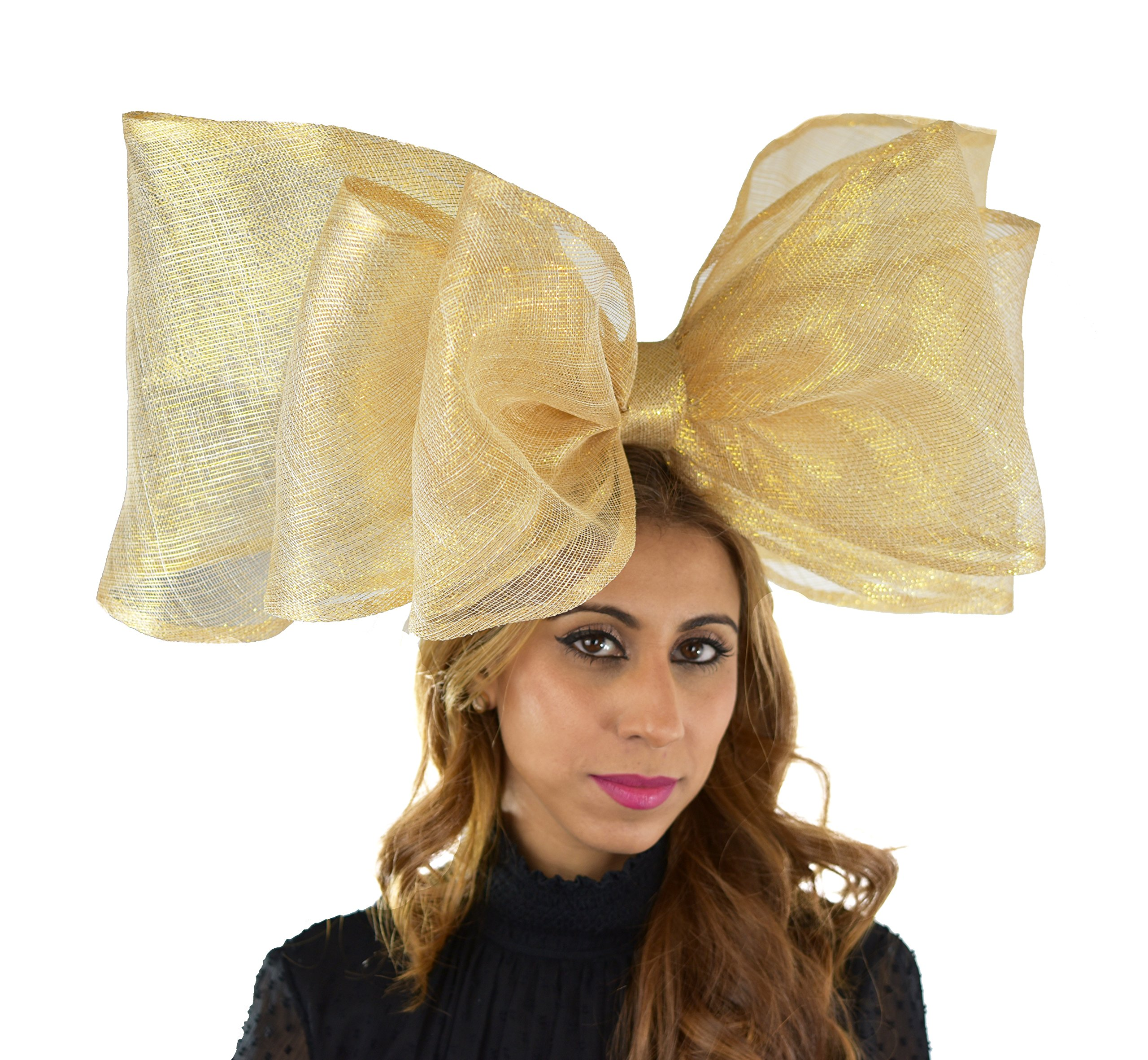 Hats By Cressida Wedding Kentucky Derby Ascot Fascinator Hat Gold Large
