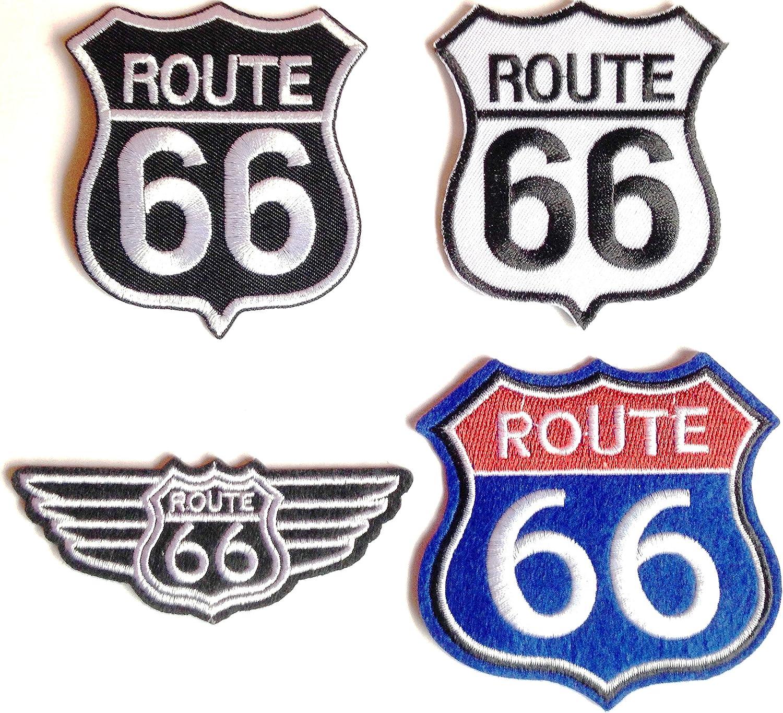 Parche Bordado para Coser Huevo, Juego Grande para Moto, Moto, Ruta 66, Estados Unidos, número 2: Amazon.es: Coche y moto