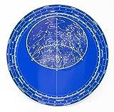 Planisphère géant luminescent - Carte brillante dans l'obscurité - - Calendrier d'apparition des constellations dans le ciel - Plastique résistant à l'eau et à l'usure