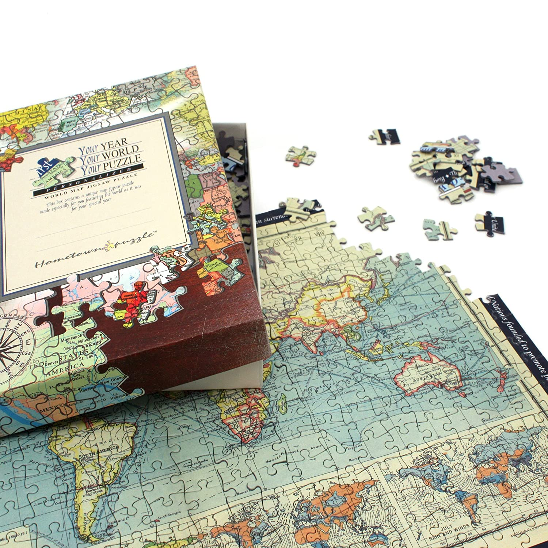 Personalised world map jigsaw puzzle amazon toys games gumiabroncs Choice Image