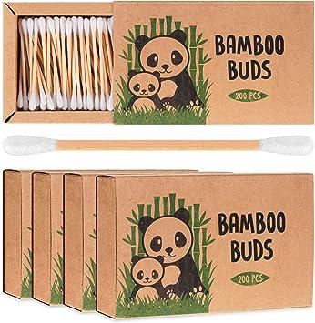 Bambú algodón Buds por Bamboo Buds | Pack de 4 ecológico y ...