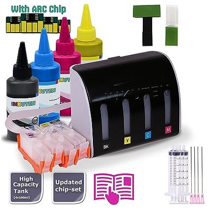 INKUTEN CISS sistema continuo de tinta para HP 564 con 4 x 100ml ...