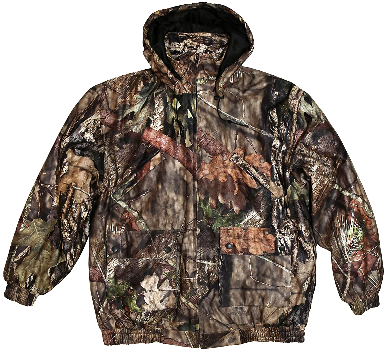 TrailCrest Kid's Insulated Waterproof Hunters Tanker Jacket Mossy Oak Camo Patterns