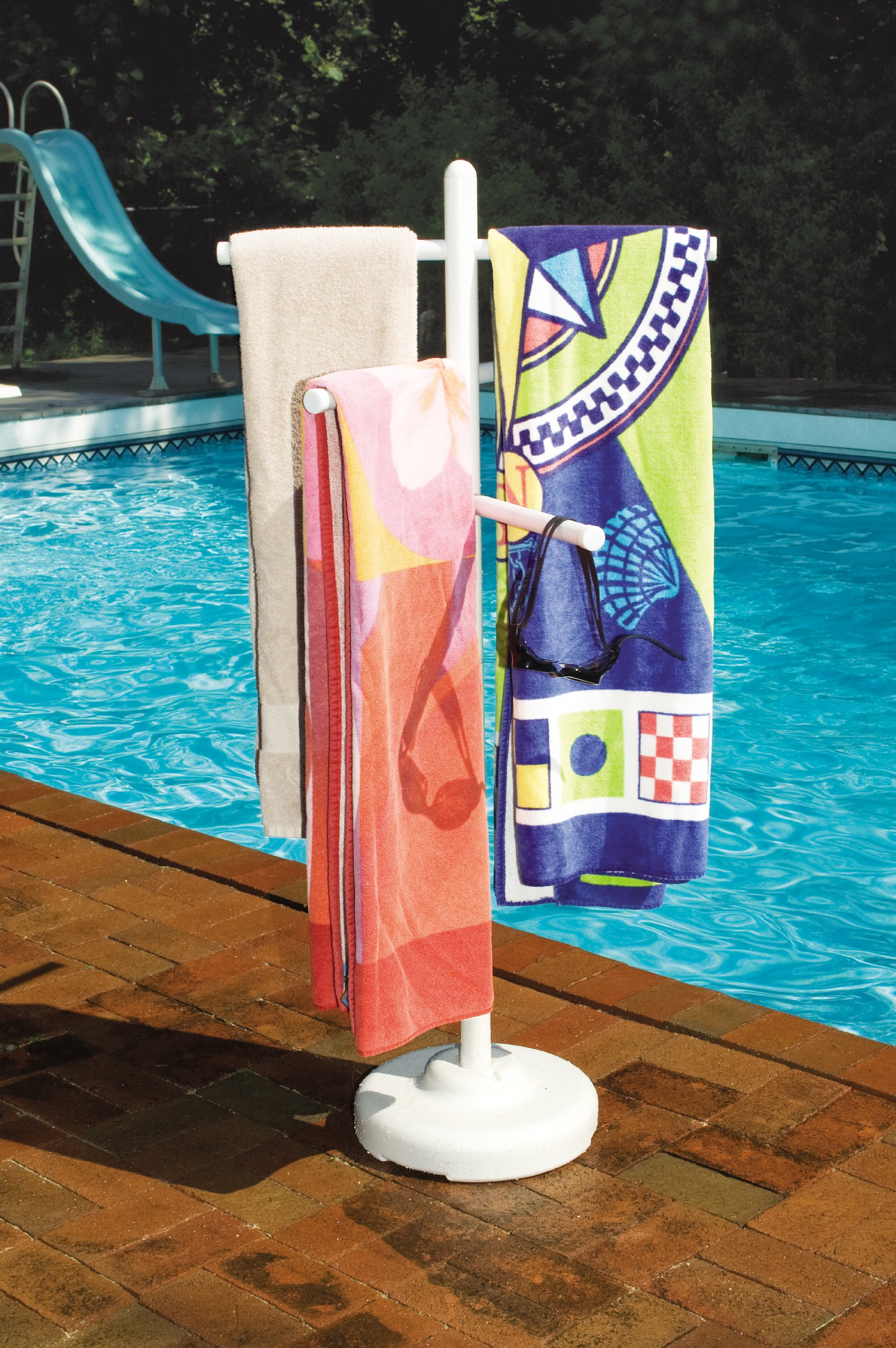 HydroTools by Swimline Poolside Towel Rack by Swimline