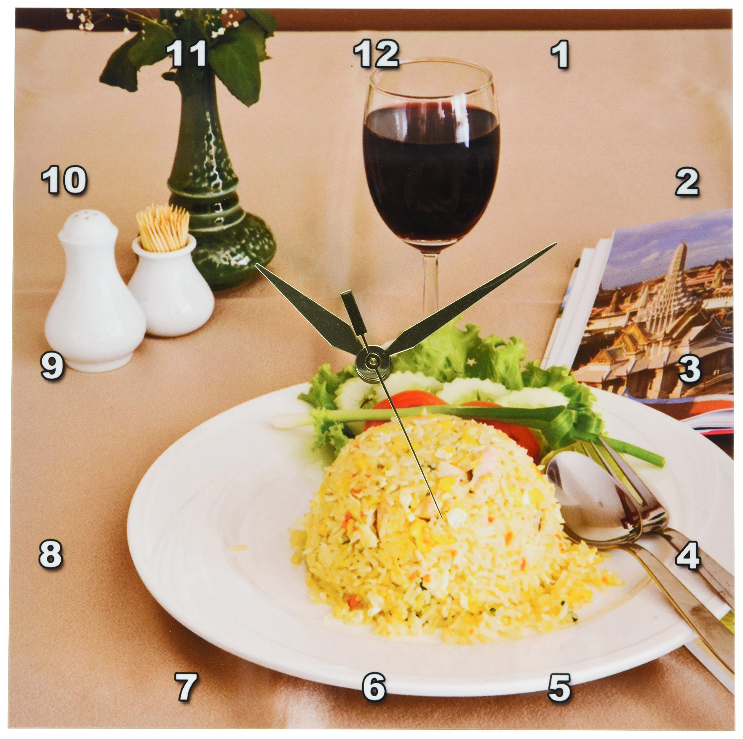 3dRose dpp_71364_1 Cuisine, Thai Restaurant, Bangkok, Thailand-AS36AjE0192-Adam Jones-Wall Clock, 10 by 10-Inch by 3dRose