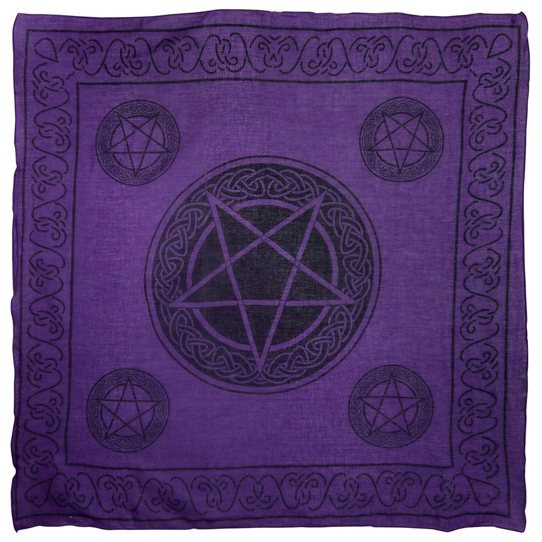 Pickled Moon Pentagram Wall Hanging Purple