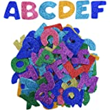 eboot glitter foam stickers letter sticker self adhesive letters assorted colors 5 sets