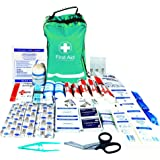 JFA Medical 215 Piece Premium First Aid Kit - includes Emergency blanket, Wound closure strips, Saline pods, Tuff cut scissors, CPR mask, Burn Dressing, Burn gel sachets, Bandages, Dressings