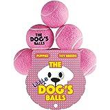 The Little Dog's Balls, 6 petit balles de tennis pour chien. Balles de tennis conçues par les humains, testées par des chiens, pour votre chien. Pour exercer les chiens, jouer avec les chiens. Entraînez votre chien pour des spectables. Les meilleures des balles pour chien ! Livrées dans un sac réutilisable avec fermeture à corde