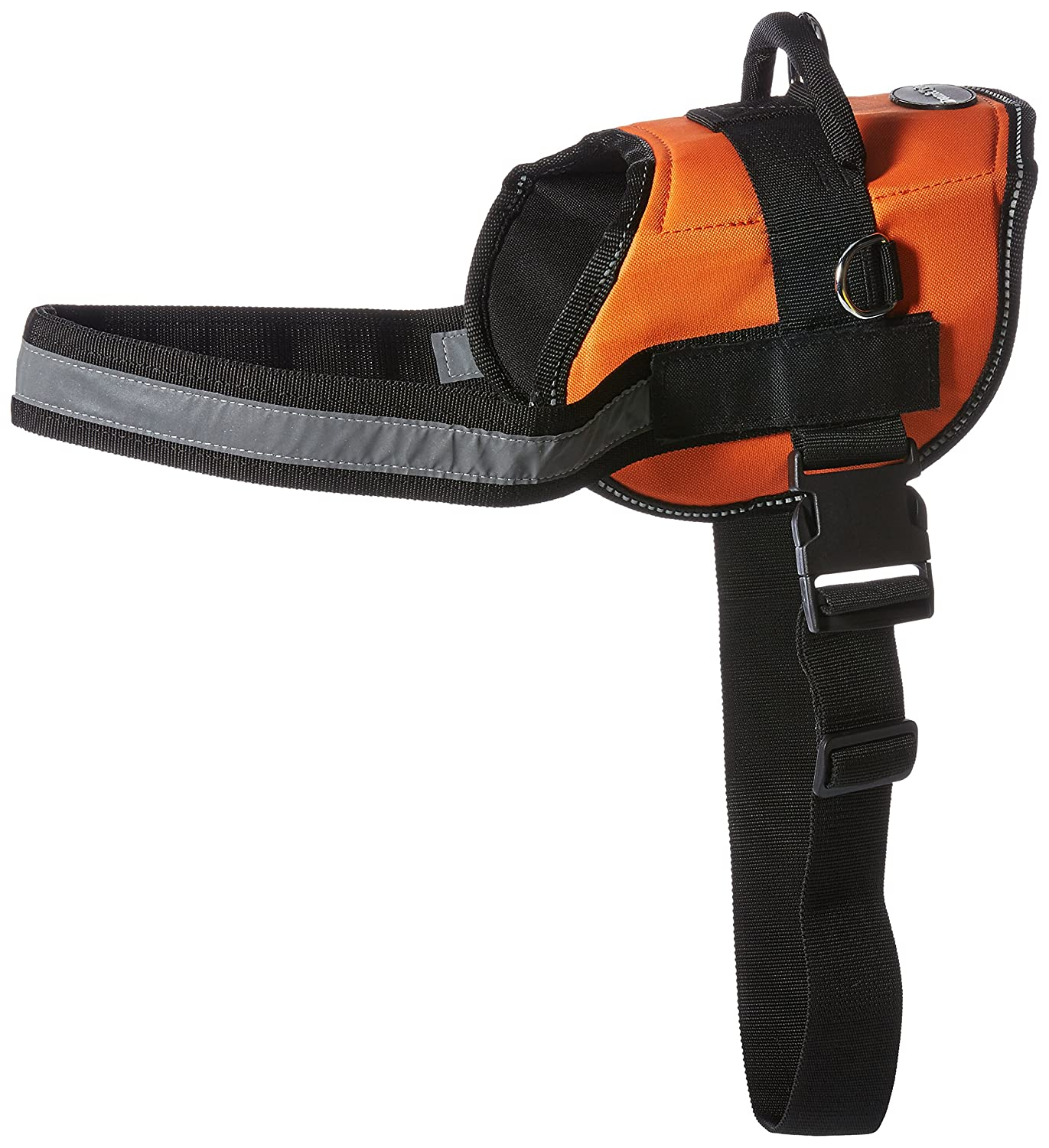 Dean & Tyler DT Works Certified Service Dog Dog Harness, Fits Girth Size 34-Inch to 47-Inch, Large, orange Black