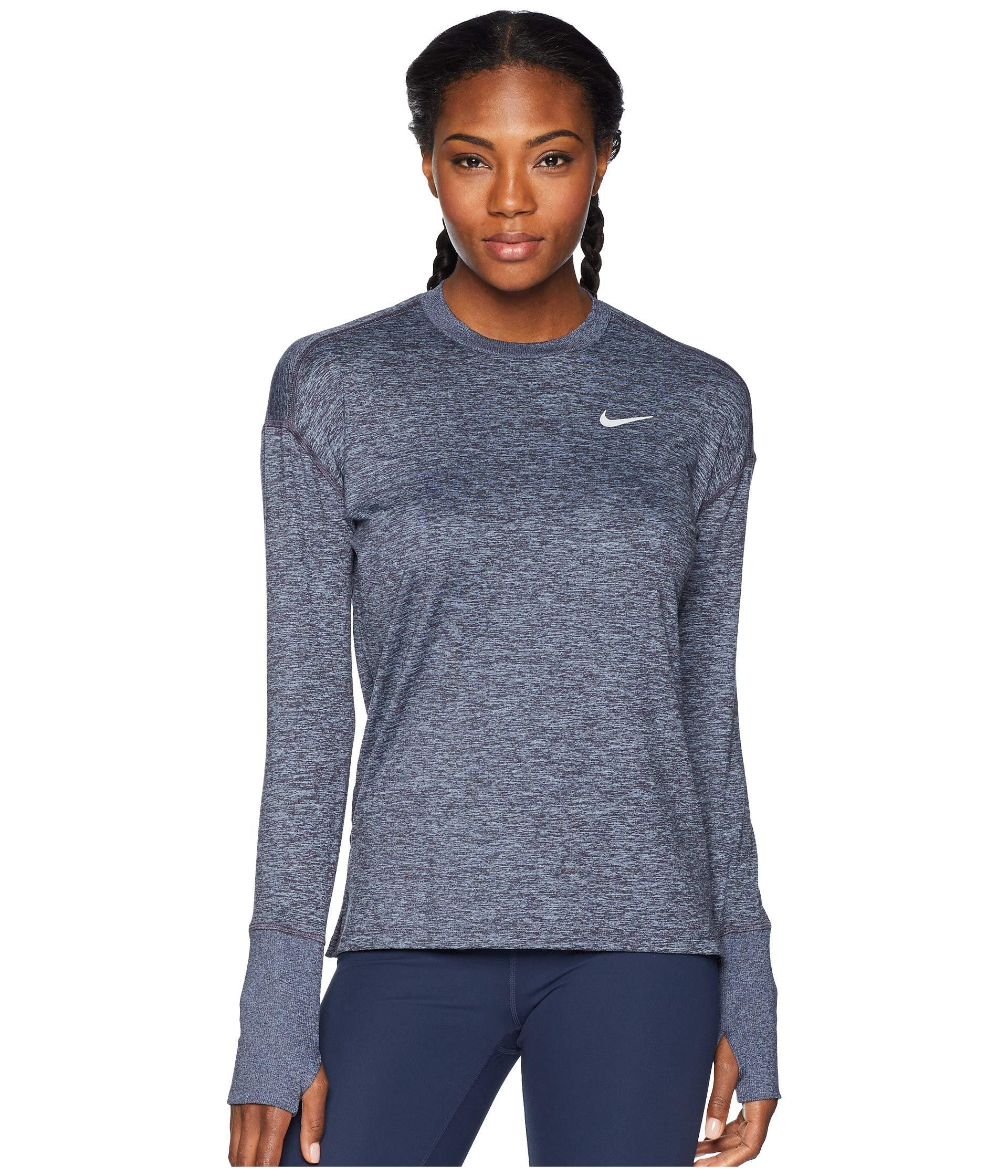 Nike Women's Element Crew Top Gridiron/Ashen Slate/Heather X-Small