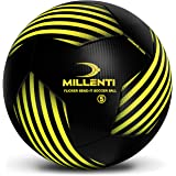 Millenti Soccer Ball Size 5 - Flicker Bend-It Soccer Balls - Classic Soccer Training Ball Team Practice Match or Game Traditi