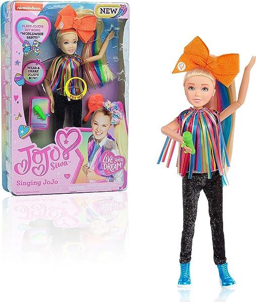 JoJo Siwa JoJo Singing Doll, Worldwide Party fashion doll toy for kids in package