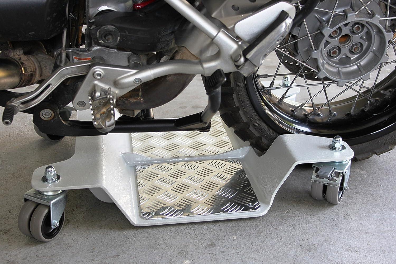 Plataforma para maniobrar o estacionar la moto o maxi-moto. Especial para motos de maxi-enduro. Ruedas de nailon.: Amazon.es: Juguetes y juegos
