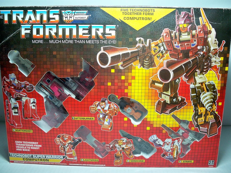 TRANSFORMERS G1 SUPER WARRIOR COMPUTRON Kids Toys Gift Christmas New