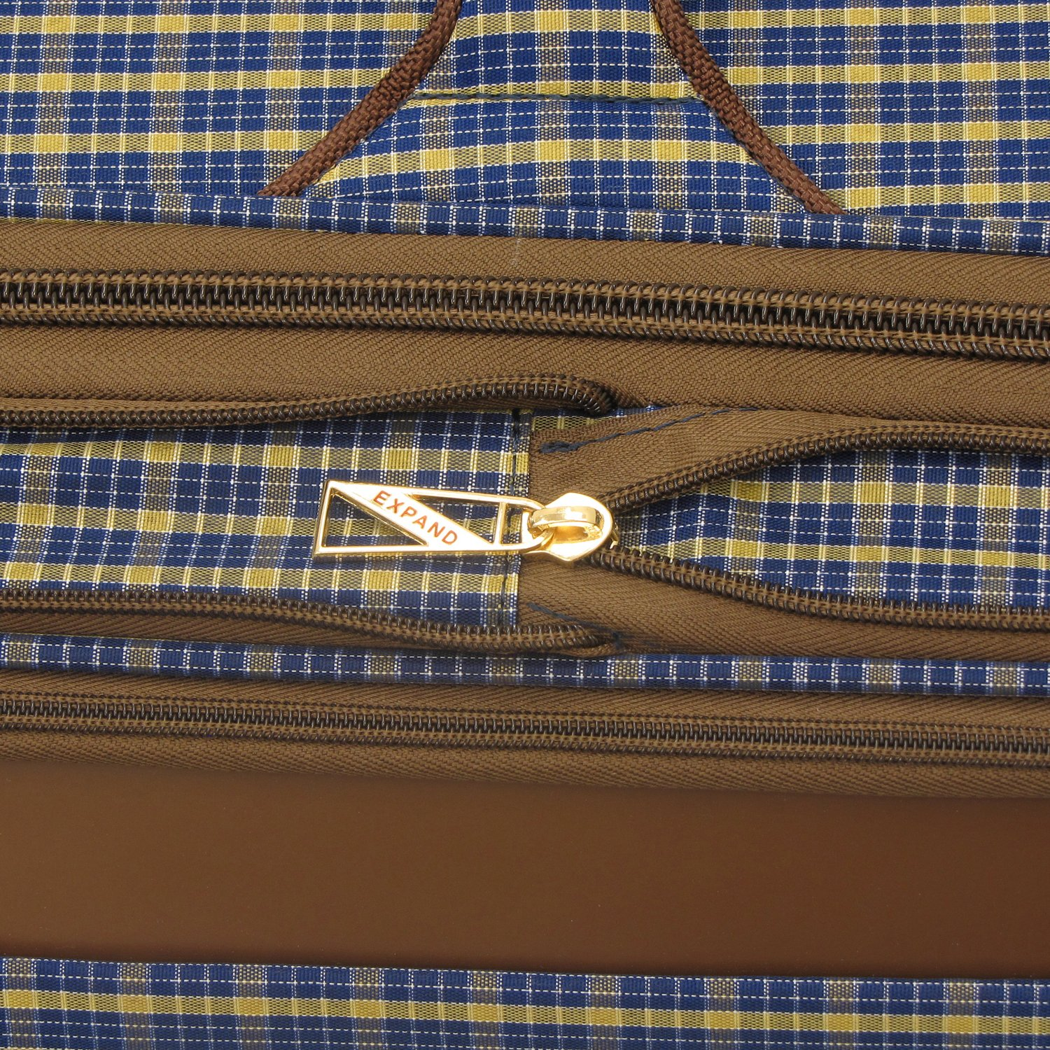 London Fog Kensington 25 Inch Expandable Spinner, Blue Tan Plaid, One Size by London Fog (Image #6)