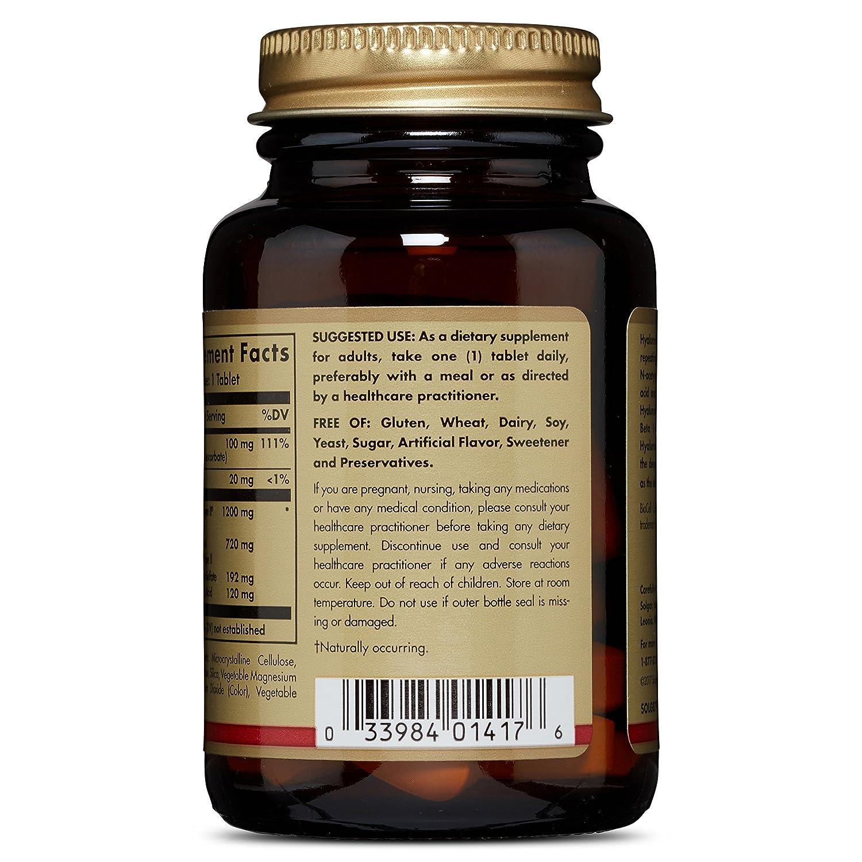 Solgar Hyaluronic Acid 120mg - Ácido Hialurónico - 30 comprimidos
