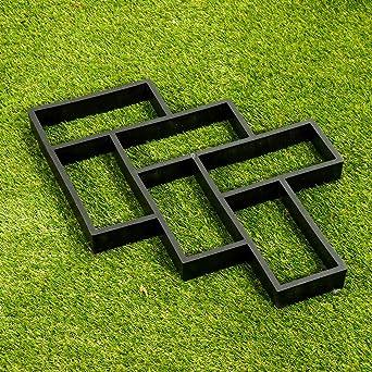 TuToy Camino reutilizable Molde de piso Fabricante de caminos Diy Jardín Pizarra Cemento Ladrillo Moldes Pavimento Molde: Amazon.es: Industria, empresas y ciencia