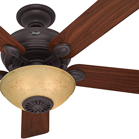 Hunter fan 52 new bronze finish ceiling fan with reversible hunter fan 52quot new bronze finish ceiling fan with reversible walnut cherry blades mozeypictures Choice Image