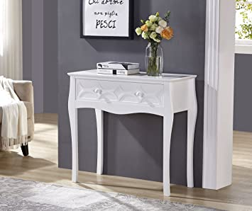 Prime White Finish Pattern Design Console Sofa Table With One Spiritservingveterans Wood Chair Design Ideas Spiritservingveteransorg