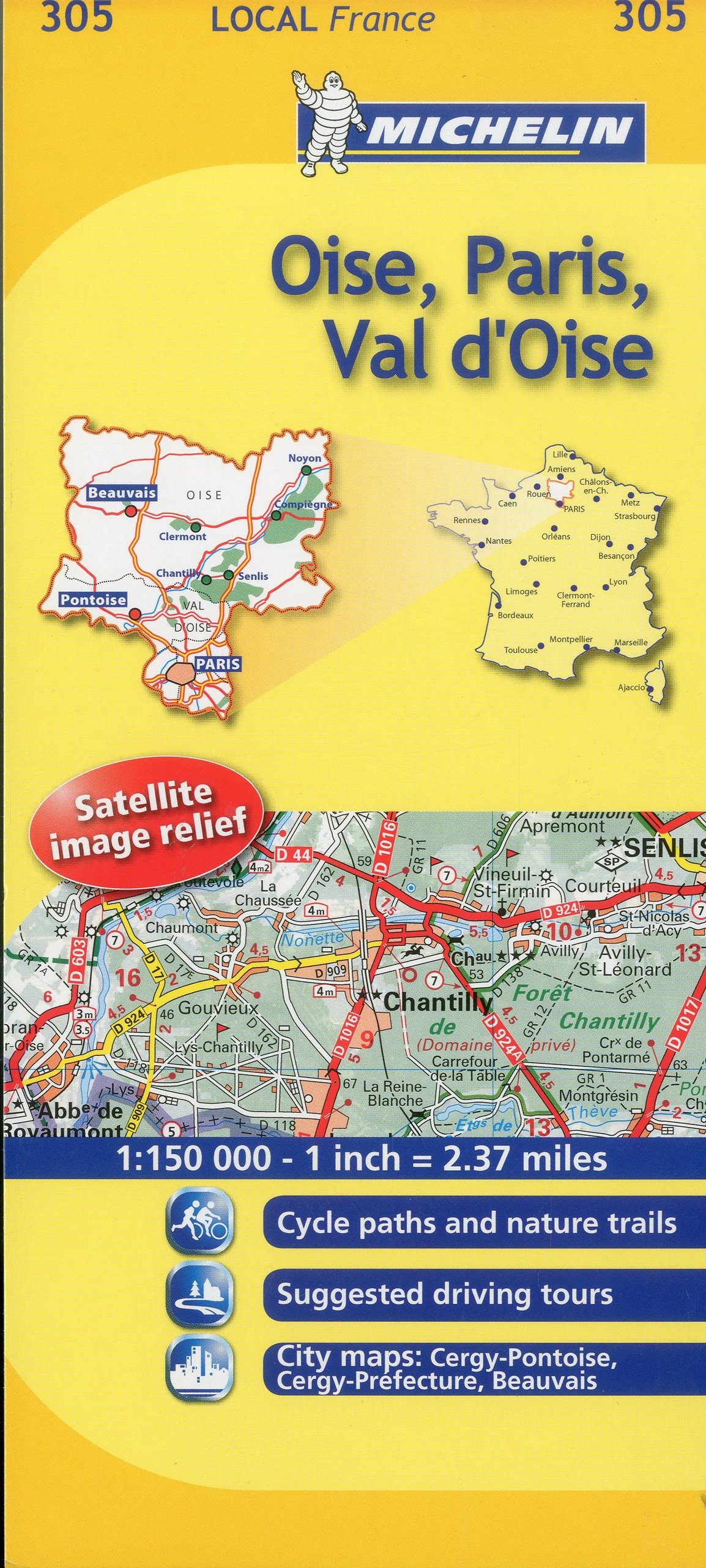 Michelin Map France Oise Paris Val D Oise 305 Maps Local Michelin English And French Edition Michelin 9782067133600 Amazon Com Books