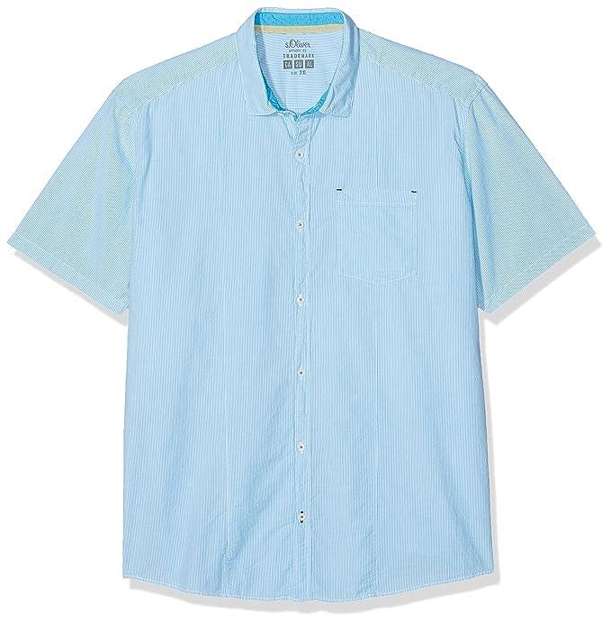 15.804.22.2198, Camisa Casual para Hombre, Blau (Ink Navy 58g8), XXXL s.Oliver