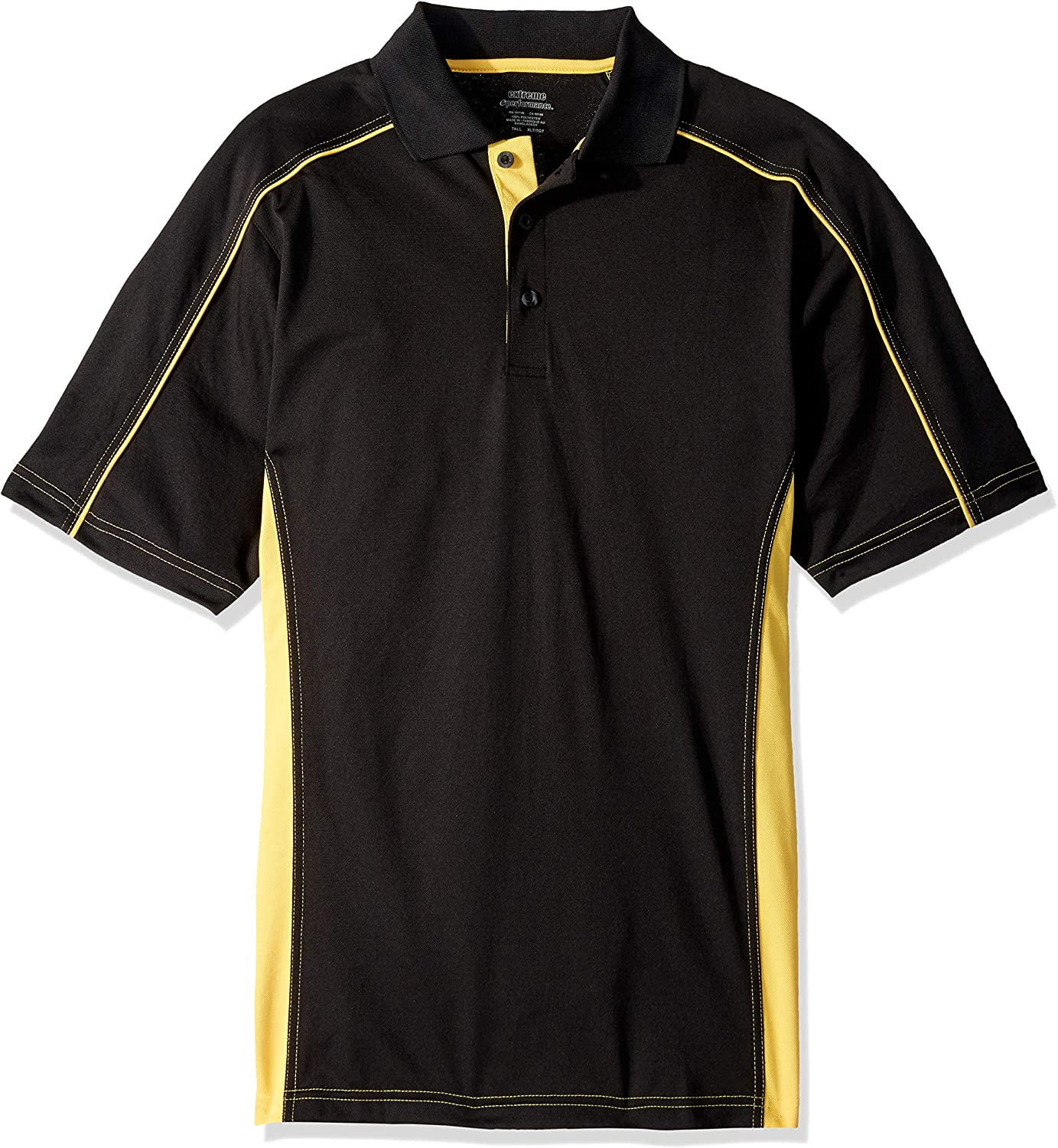 Ashe Xtream Mens Tall Size Acty-85113t-tall Fuse Snag Protection Plus Colorblock Polo
