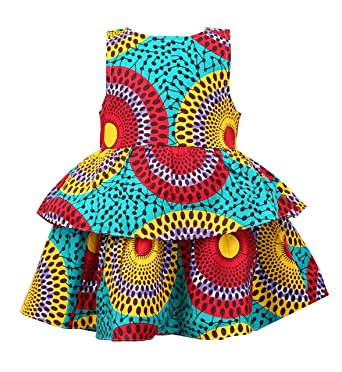 e48ccdf769371 Girl's African Print Dress,Baby Girl Party Dress Ankara Special Occasion  Dress, Wax Print