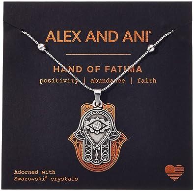 1c0695023ad44 Amazon.com: Alex and Ani Hand of Fatima III Necklace, Rafaelian ...