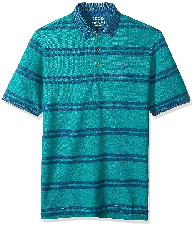 IZOD Men's Big and Tall Short Sleeve Advantage Double Stripe Polo IZOD Men's Sportswear 45X7