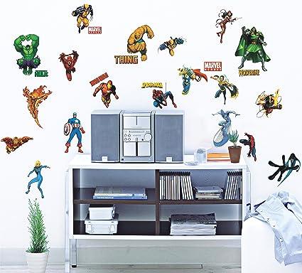 Marvel Heroes Peel U0026 Stick Wall Decals
