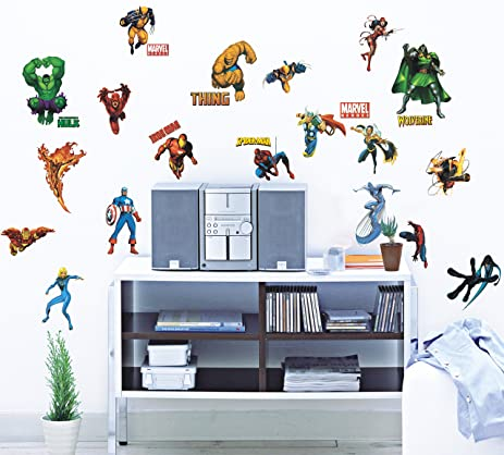 Marvel Heroes Peel U0026 Stick Wall Decals