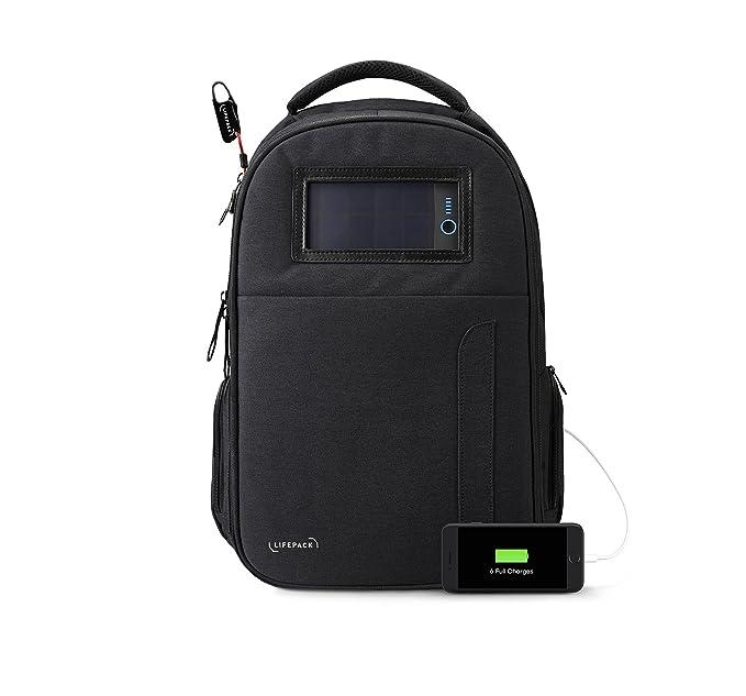 Amazon.com: Lifepack Mochila de alimentación solar y ...