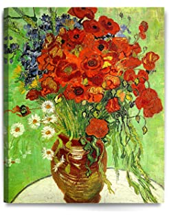 Amazon wall26 poppy flowers by vincent van gogh oil decorarts red poppies and daisies vincent van gogh art reproduction giclee canvas prints mightylinksfo