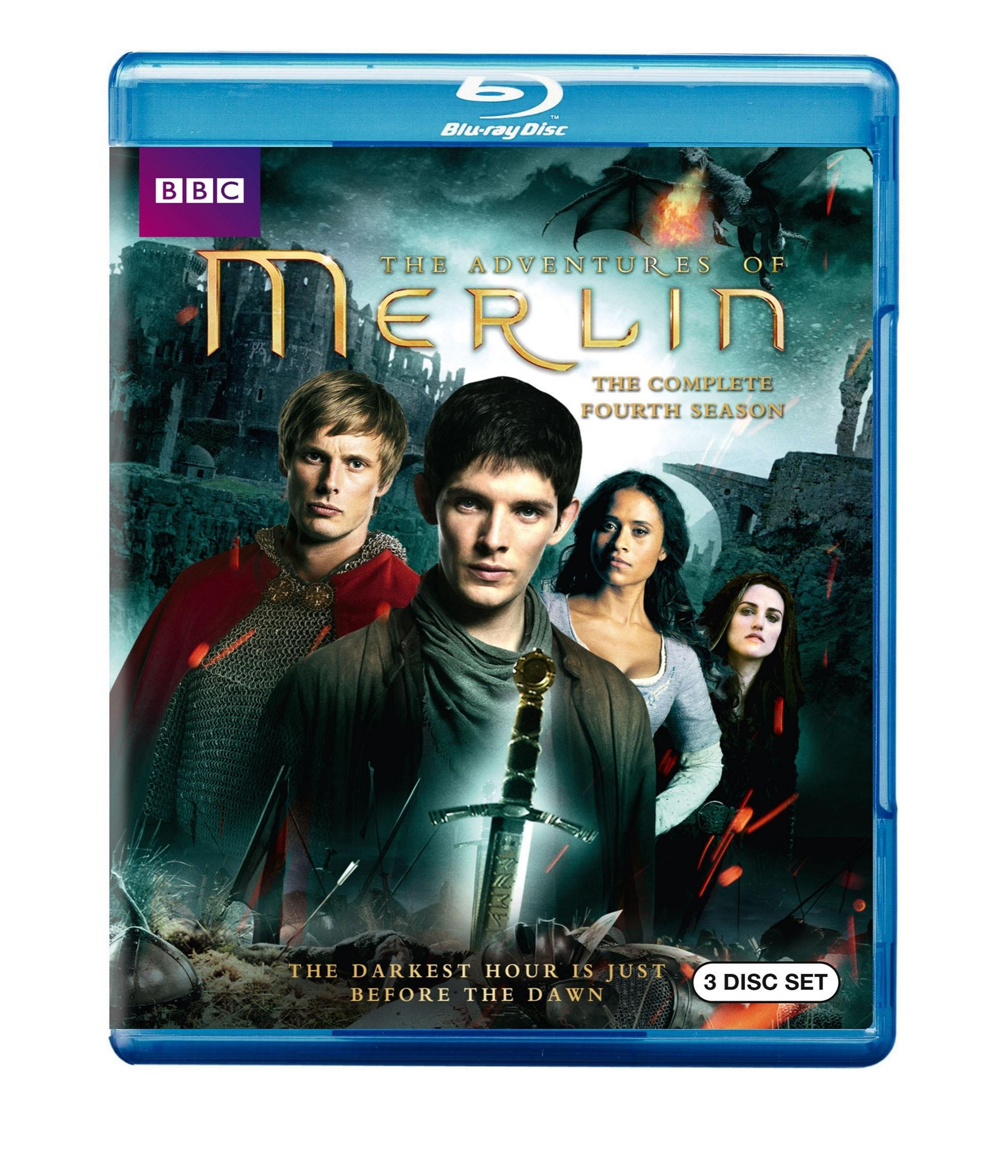 Blu-ray : Merlin: The Complete Fourth Season (Slipsleeve Packaging, Widescreen, 3 Pack, 3 Disc)