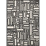 Now House by Jonathan Adler Blocks Collection Area Rug, 5' x 7', Ivory and Black